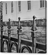 Church Fence Canvas Print