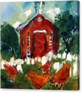 Church Hens Canvas Print