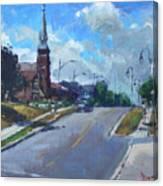 Church In Georgetown Downtown  Canvas Print