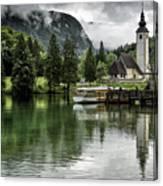 Church In Julian Alps Slovenia Canvas Print