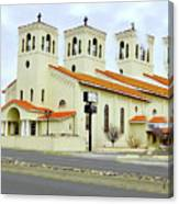 Church In New Mexico Multiplied Canvas Print