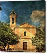 Church In Peillon Canvas Print