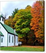 Church In The Wildwood Canvas Print