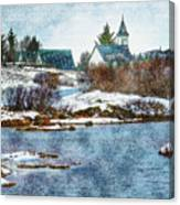 Church In Thingvellir Canvas Print