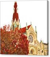 Church Next Door Canvas Print