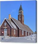 church of Ilulissat - Greenland Canvas Print