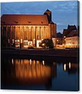 Church Of Our Lady On Sand In Wroclaw By Night Canvas Print