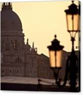 Church Of Santa Maria Della Salute With Lamp Post Canvas Print