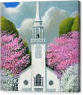 Church Of The Dogwoods Canvas Print