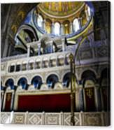Church Of The Holy Sepulchre Interior Canvas Print