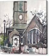 Church On Chelsea Embankment Canvas Print