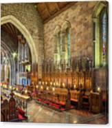 Church Organist Canvas Print