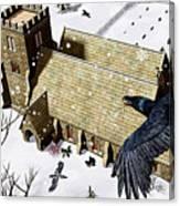 Church Ravens Canvas Print