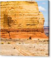 Church Rock Us Highway 163 191 In Utah East Of Canyonlands Natio Canvas Print