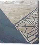 Church Shadow Steps Canvas Print