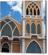 Church Steeple In Ibarra Canvas Print