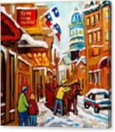 Church Street In Winter Canvas Print