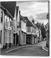 Church Street Sawbridgeworth In Black And White Canvas Print