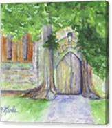 Church Trees Canvas Print