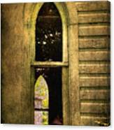 Church Window Church Bell Canvas Print