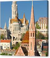 Churches In Budapest Hungary Canvas Print