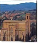 Churches Of Sienna Canvas Print