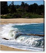 Churning Surf At Monastery Beach Canvas Print