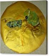 Cicada On Gold Canvas Print
