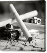 Cigarette And Lighters Canvas Print