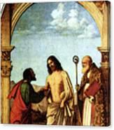 Cima Da Conegliano The Incredulity Of St Thomas With St Magno Vescovo Canvas Print