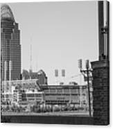 Cincinnati And Building  Canvas Print