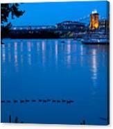 Cincinnati Belle Suspension Bridge Canvas Print