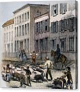 Cincinnati Hog Herding Canvas Print