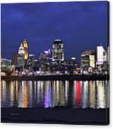 Cincinnati Night Lights Canvas Print