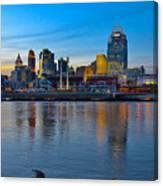 Cincinnati Skyline Across The Ohio River Canvas Print