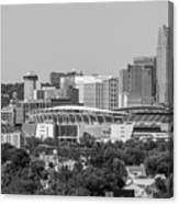 Cincinnati Skyline From Above  Canvas Print
