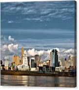 Cincinnati Skyline Hdr Canvas Print
