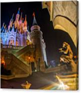 Cinderella And Her Castle Canvas Print