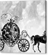Cinderella's Carriage-black Canvas Print