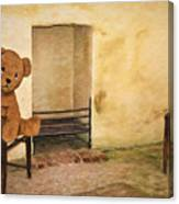 Cinders Bear Canvas Print