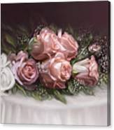 Spray Of  Roses Canvas Print