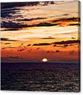 Cinque Terre - Sunset From Manarola - Panorama Canvas Print