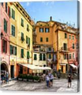 Cinque Terre - Vernazza Main Street Canvas Print