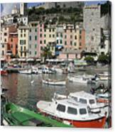 Cinqueterre Boats Canvas Print