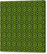 Circle And Oval Ikat In Black N09-p0100 Canvas Print