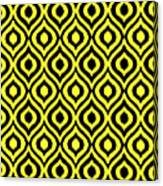 Circle And Oval Ikat In Black T05-p0100 Canvas Print