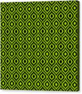 Circle And Oval Ikat In Black T09-p0100 Canvas Print