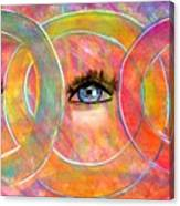 Circle Of Eyes Canvas Print