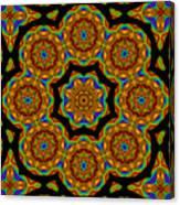 Circled Floral Mandala Canvas Print