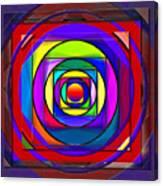 Circles And Squares Abstract Canvas Print
